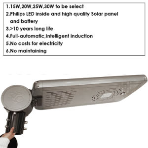 20W LED Solar Street Lamp with Infrared Induction pictures & photos
