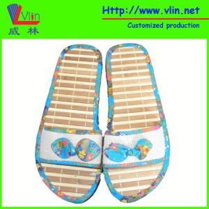 Women′s Slipper with Bamboo Sole and Straw Strap pictures & photos