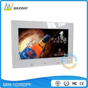 """Vesa Wall Mount or Desktop 10"""" LED Digital Picture Frame with Video Loop pictures & photos"""