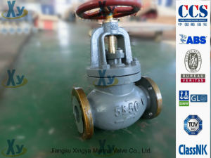 Marine Cast Steel Globe Valve JIS F7319 10k pictures & photos