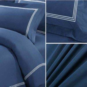 Navy Blue Home Collection Best Egyptian Cotton Embroidery Bedding Set (DPF10703) pictures & photos