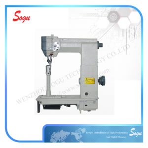 Double Needle Driven Roller Presser Post-Bed Lockstitch Sewing Machine pictures & photos