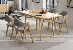 Fashion Rectangle Wooden Dining Table for Restaurant Cafe (NK-DTB090) pictures & photos
