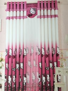 Home Use Curtain Polyester Pink Fabric EDM5296