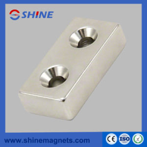 Strong Neodymium Rectangular Magnet with Countersunk pictures & photos