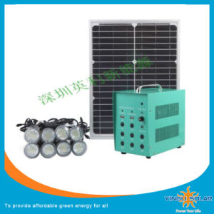 New 40W Portable Solar Power Kit with 8PCS LED Light pictures & photos