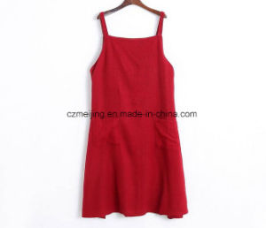 Red Women`S Slip Dress pictures & photos
