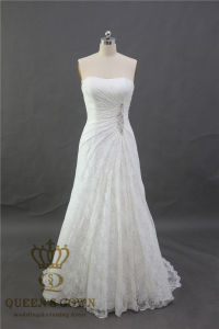 Sweetheart Applique Mermaid Sweep Train Charming Button Lace Wedding Dress 2017