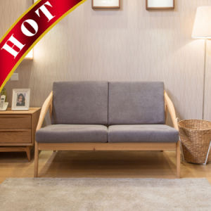 Modern Oak Fabric Wooden Hotel Living Room Sofa pictures & photos