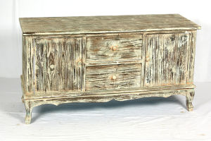 Reclaimed Wood TV Cabinet with 2 Doors Wooden Living Room Furniture pictures & photos