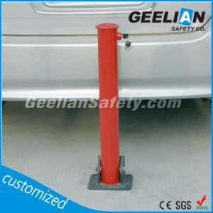 Car Park Posts, Warning Collapsible Bollard, Durable Steel Parking Folding Bollard pictures & photos