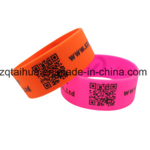 Blue Silicone Wristband with The Swoosh Thb-038 pictures & photos