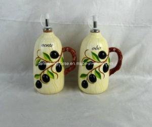 Hand-Painted Ceramic Oil & Vinegar Bottles pictures & photos