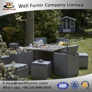 Well Furnir 8 Seat for Family Party Garden Rattan Cube Dining Set pictures & photos