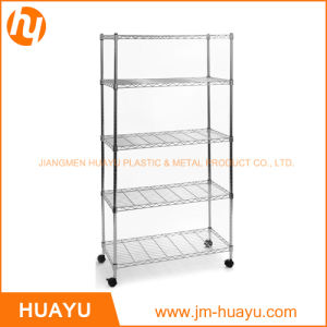 Five Tier Movable Chrome Finish Storage Rack for Storage or Display pictures & photos