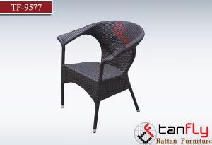 Brown Rattan/Wicker Resort Hotel Dining Chair