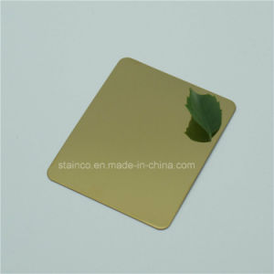 Supper Bright Mirror Finish Stainless Steel Sheet Protected by Double PE Film pictures & photos