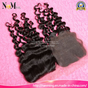 Deep Wave Brazilian Deep Curly Hair Lace Closure with Bundles Weave pictures & photos