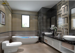 Waterproof Indoor Ceramic Tile, Corrosion Resistant Porcelain Bathroom Tile pictures & photos