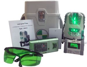 Rechargeable Green Beam High Precision Five Lines Green Laser Level (4V1H1D) 50m Receviable pictures & photos