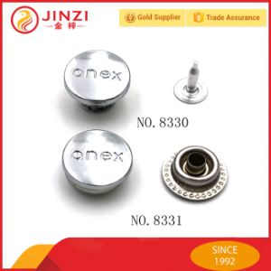 Custom Your Logo Metal 2 or 4 Parts Jeans Button pictures & photos