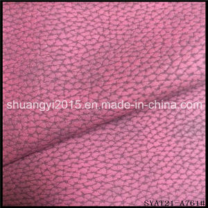 Newesy Lithchi Design Emboss PU Leather for Shoes pictures & photos