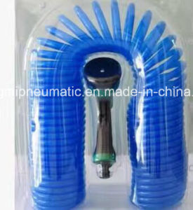 Light Blue Polyurethane Recoil Hose (8*5mm, 7.5M) pictures & photos