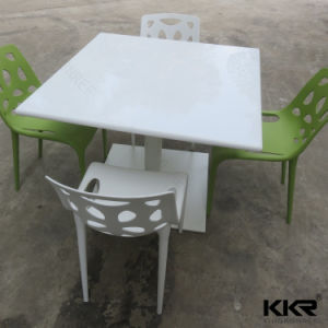 Vein Pattern Solid Surface Artificial Stone Dining Tables pictures & photos