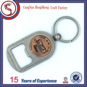 Convenient Opener Metal Type Stainless Steel Bottle Opener with Key Ring pictures & photos