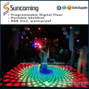 50X50cm Wedding LED Digital Dance Floor P62.5 Portable Flooring pictures & photos
