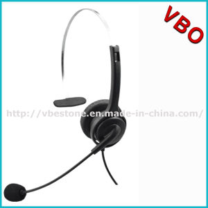 Cheapest Call Center Monaural Rj Headset with Noise Cancelling Mic Boom for Telemarketing pictures & photos