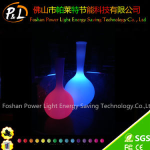 Colorful Rechargeable Illuminated Decorative Plastic Vase pictures & photos