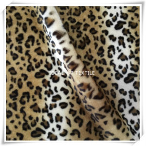 Printed Fake Fur with Leopard Point pictures & photos