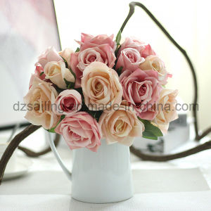 12 Colors Hot Selling Rose Bouquet Artificial Flower (SF12504) pictures & photos