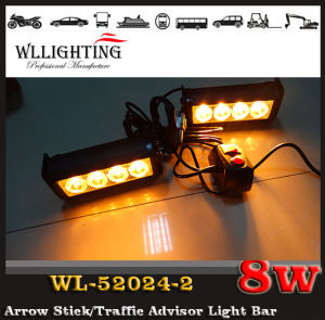 Police LED Warning Strobe Light Car LED Flashing Light for Front Grille LED Headlight Red Blue pictures & photos
