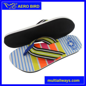 EVA Simple with Logo Print Beach Slipper for Man pictures & photos