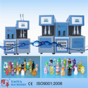 2000ml Two Cavity Semi-Automatic Pet Bottle Stretch Blow Moulding Machine pictures & photos