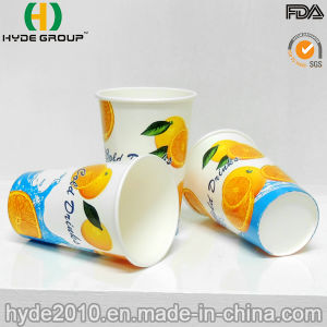 12oz Single Wall Cold Drink Paper Cup for Juice (12oz) pictures & photos
