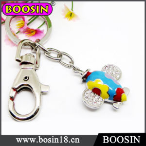 Cute Airplane Keyring / Metal Airplane Keychain for Promotion Gift #15737 pictures & photos