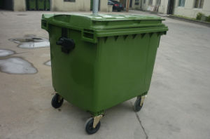 1100L Plastic Waste Bin with Four Wheels Eco-Friendly pictures & photos