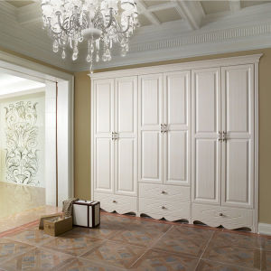 Bedroom Furniture Wood 4 Door Wardrobe with Modern Design pictures & photos