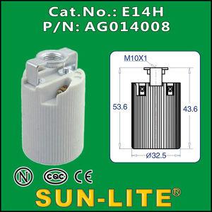 E14 Porcelain Lampholder (Set-Screw Terminals)