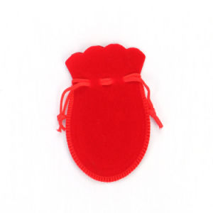 Personalized Red Velvet Drawstring Pouches Wholesale (CVB-1086) pictures & photos