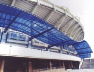 Keqi Weather Resistant Embossed Solid Sheet for The Stadium Lighting Roof pictures & photos