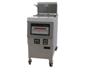 Gas Open Fryer with Oil Pump Ofg-321 (Single Tank) pictures & photos