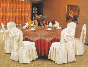 Polyester Banquet Chair Cover and Table Cloth pictures & photos