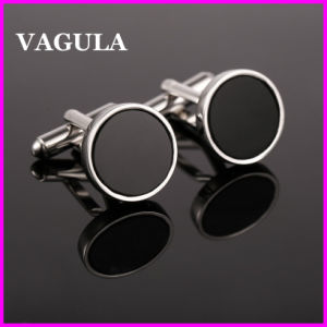 VAGULA Quality Onyx Silver Cufflinks (HL10121) pictures & photos