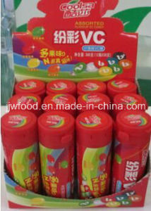 Jjw 30g Rainbow Vitamin C Chew Candy in Plastic Tube pictures & photos