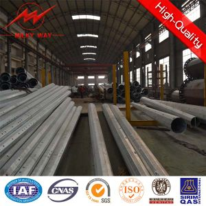 African Galvanized Steel Electric Pole pictures & photos