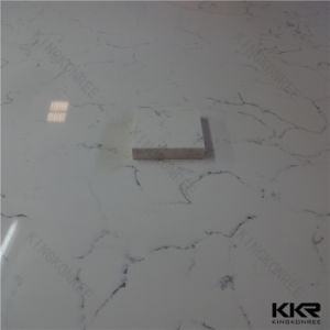 Kkr High Quanlity Big Slab Carrara Quartz Slab pictures & photos